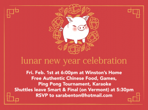 Lunar New Year Celebration @ Winston's House